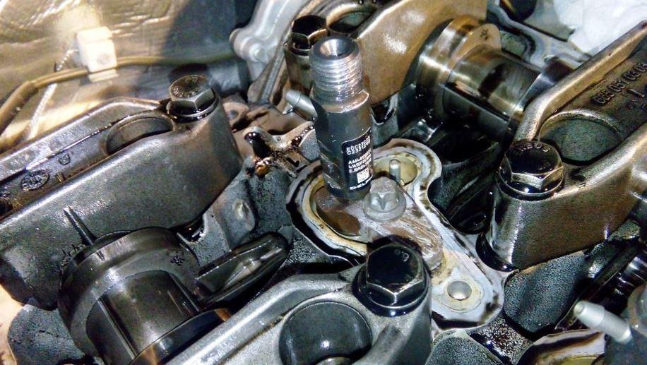 Извлечение прикипевших форсунок дизельных двигателей SsangYong